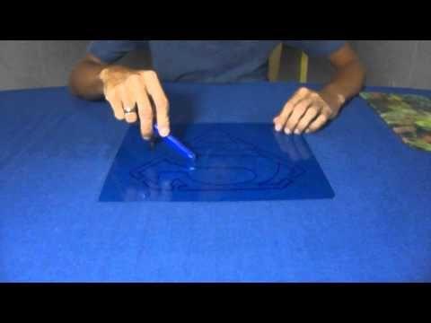 Cortando o Molde de Pintura de Radiografia - Stencil - YouTube
