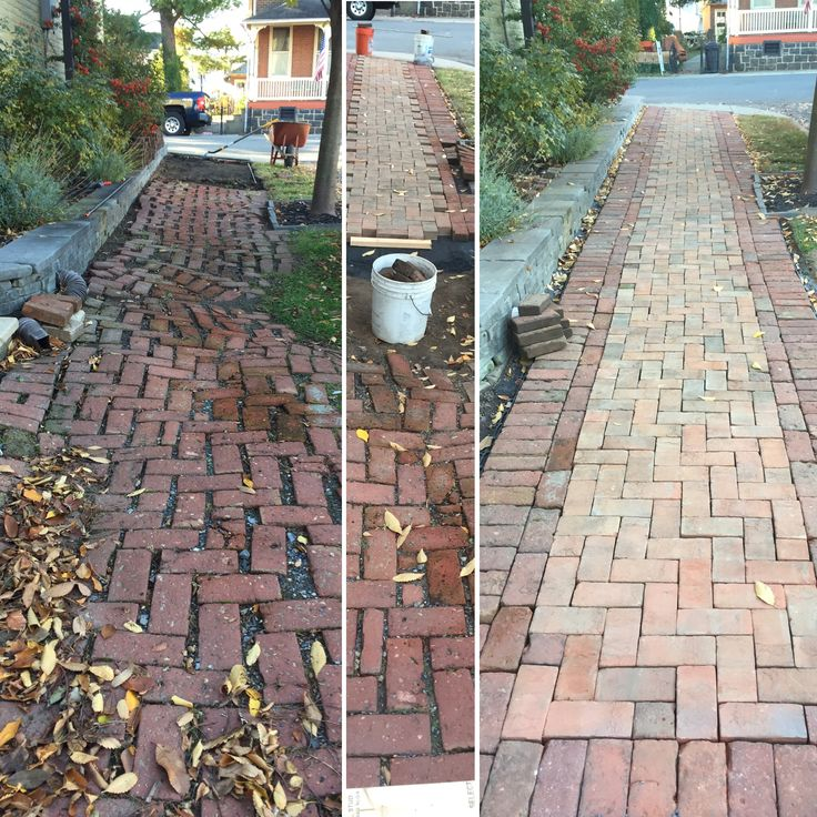 Resurrecting 100+ year old herringbone brick sidewalk