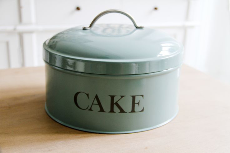 #cake tin #duckegg blue  £26.95 #homeandpantry, made from #powdercoated steel #kitchenware #wedding #gift   Shop now >> http://www.homeandpantry.com/gifts/cake-tin-shutter-blue