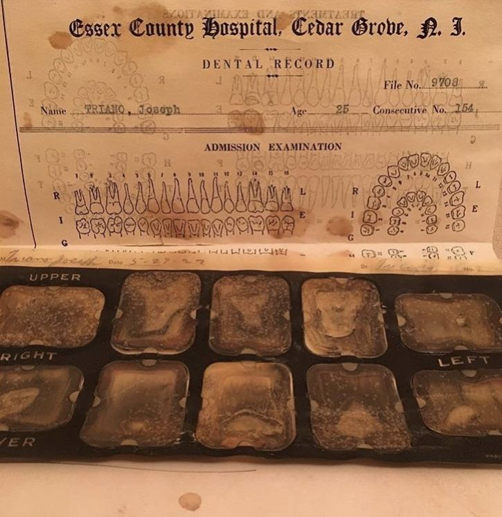 Essex county hospital dental records.  Asylum New Jersey.