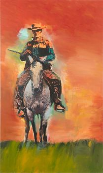 RICHARD PRINCE   Untitled (Cowboy), 2012   Inkjet and acrylic on canvas   80 1/4 x 48 inches  (203.8 x 121.9 cm)