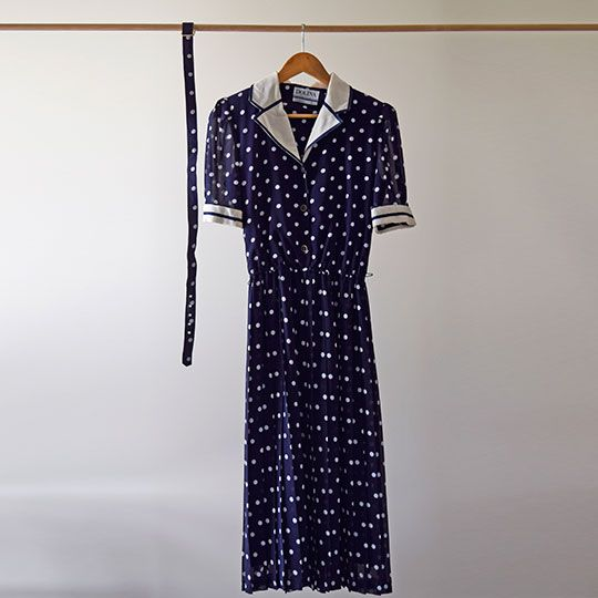 Made By Mee + Co | Navy Spotted Dress