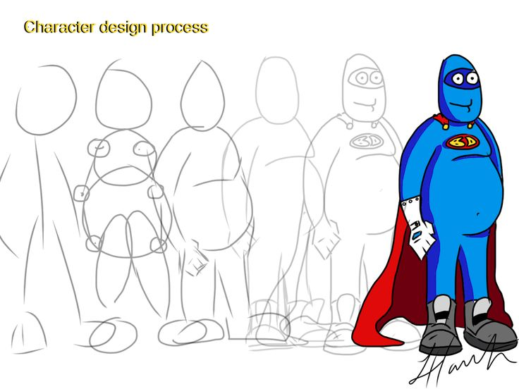 Cartoon Character Design Process : Blue dude character design process cartoon and
