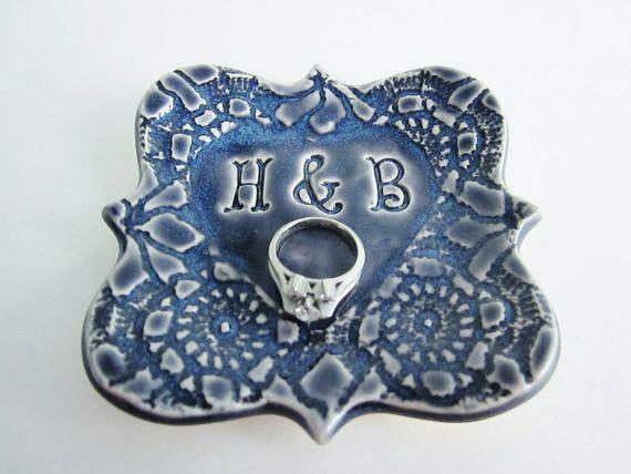 Handmade ceramic engagement ring holder from Ali's Pots