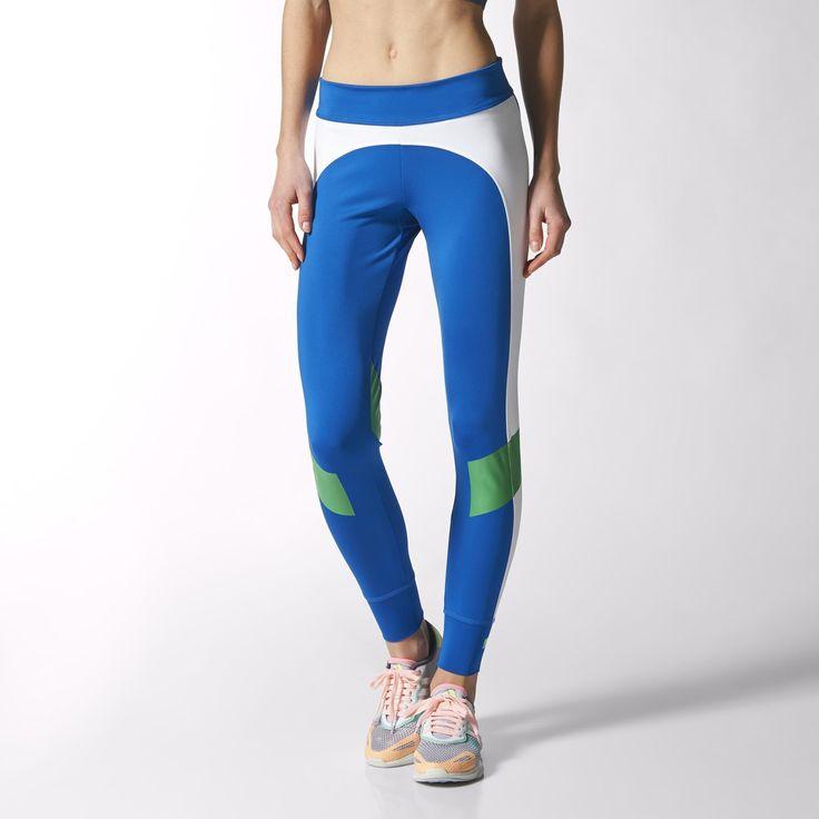 Te damskie legginsy treningowe są wyrazem Twojej pasji dla sportu i mody. Zaprojektowane we współpracy ze Stellą McCartney, zostały uszyte z pochłaniającej pot tkaniny climalite® i ozdobione płaską, elastyczną talią.