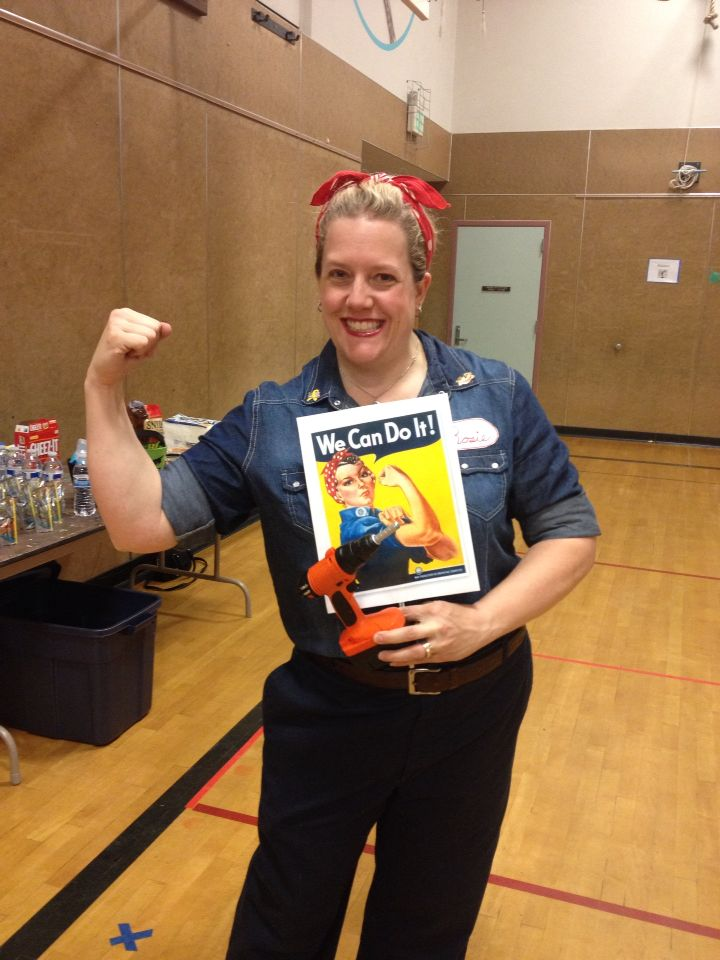 Here I am as Rosie the Riveter!