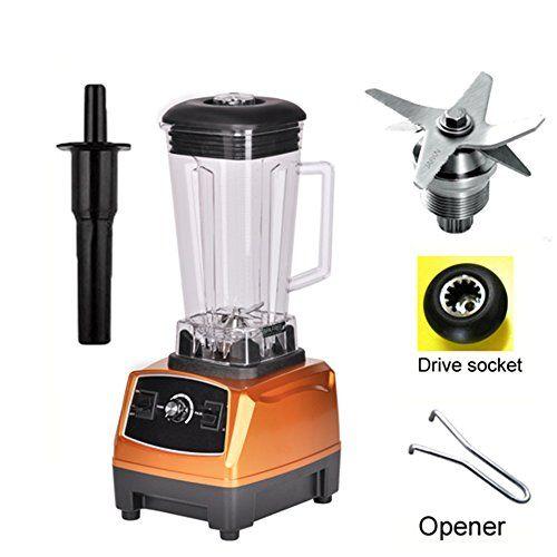Wotefusi Electric Blenders Power Blenders 70 oz 2L 3-Speed Home Kitchen Fruit Juicer Mixer Golden 110V.