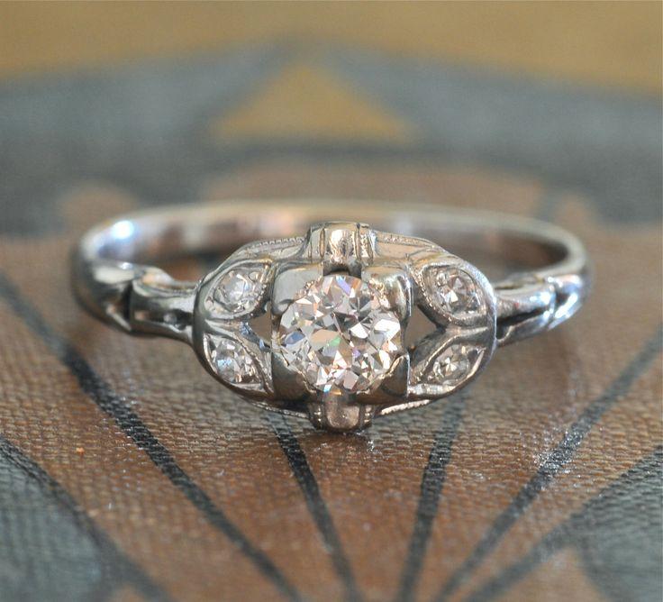 Edwardian Engagement Ring-1920s Engagement Ring - Antique Engagement Ring-Vintage Wedding Rings - Antique Diamond Ring - Art Deco Engagement by EngagedWithDiamonds on Etsy https://www.etsy.com/uk/listing/210140868/edwardian-engagement-ring-1920s