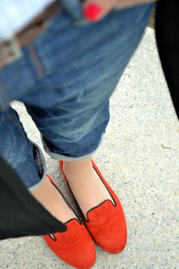 orange slippers FABIO RUSCONI SHOES
