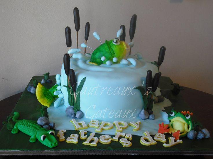 73 best Fishing Cakes images on Pinterest Fishing cakes Birthdays