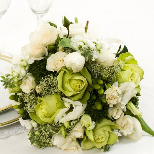 green wedding flowers bridal bouquet | Arranged Wedding Flowers - Another Sound Solution to 'Do-it-Yourself ...