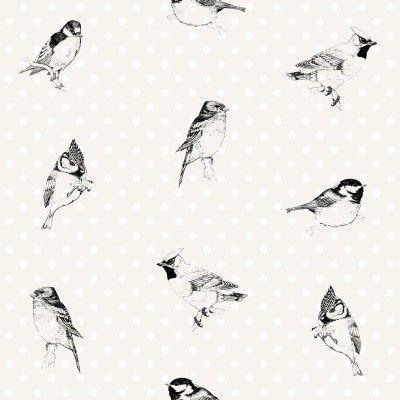 Esta Home Belle Rose Black & White 115746 | Zwart - wit behang | Behangexpert : 20.000 dessins online !