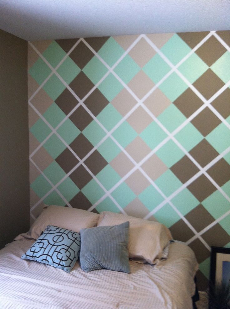 Paint Design On The Wall Using Painting Tape