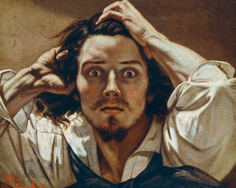 Gustave Courbet, Self-Portrait. In my opinion this is what romanticism is all about - emotion. The expression on his face is surprised and socked, and the fact that it's a self-portrait makes it even more incredible. This could also symbol that he may have seen something that he did not enjoy and captured it himself as he knew what it felt like.