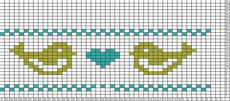 Birds, free cross stitch pattern