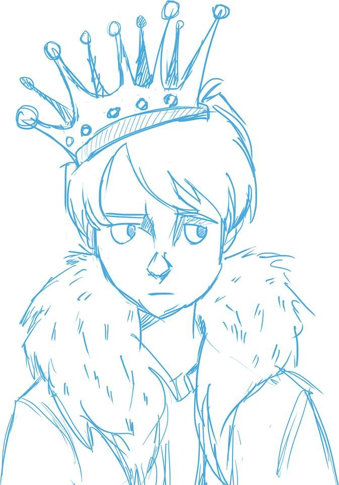 The little king- sketch- character design