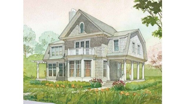 7 best dutch gambrel facades images on pinterest for Dutch colonial garage plans