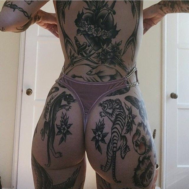 Wasted canvas!! Such a nice bum for shit ink