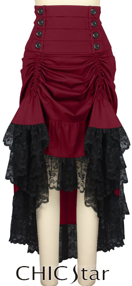 Chic Star | Victorian Gothic Adjustable Length Skirt  $52.00 - Plus size $56.00  or Wholesale (see sight for pricing) Designed by Amber Middaugh and Cecilia Estevez Estevez