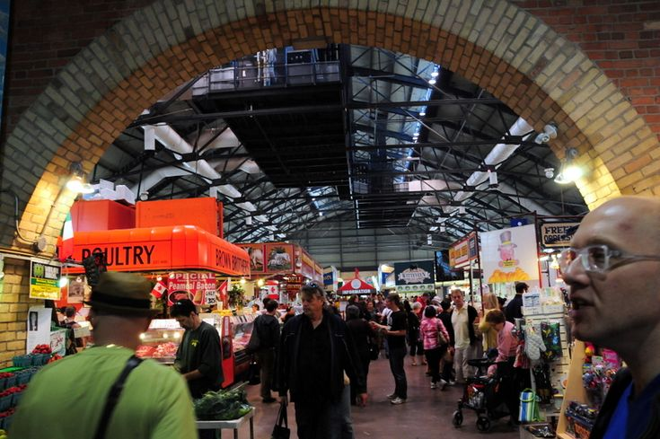Rated the No. 1 food market in the world by National Geographic, the historic St. Lawrence Market in Toronto, Ontario.