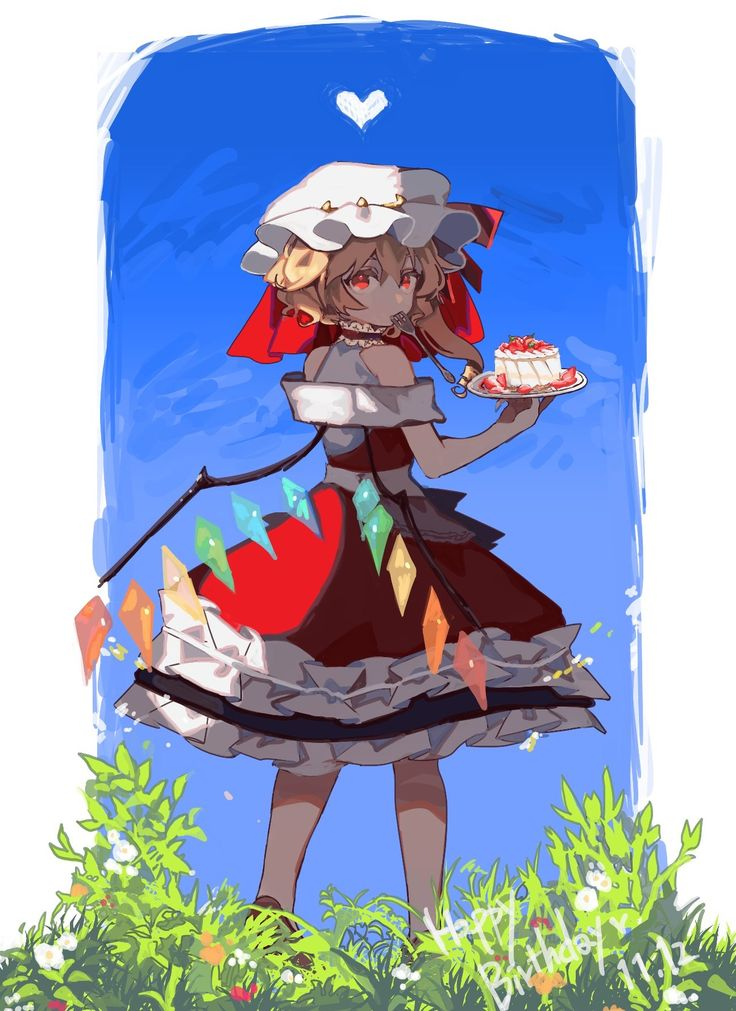 Flandre Scarlet btw lots of people right now still think touhou is an anime