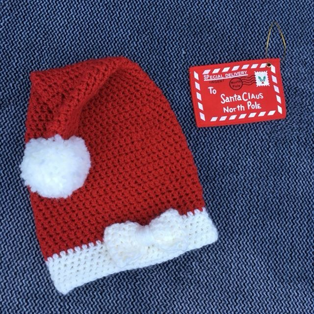 Baby Kerstmuts Haken Met Strikje Haken Voor Kids Pinterest
