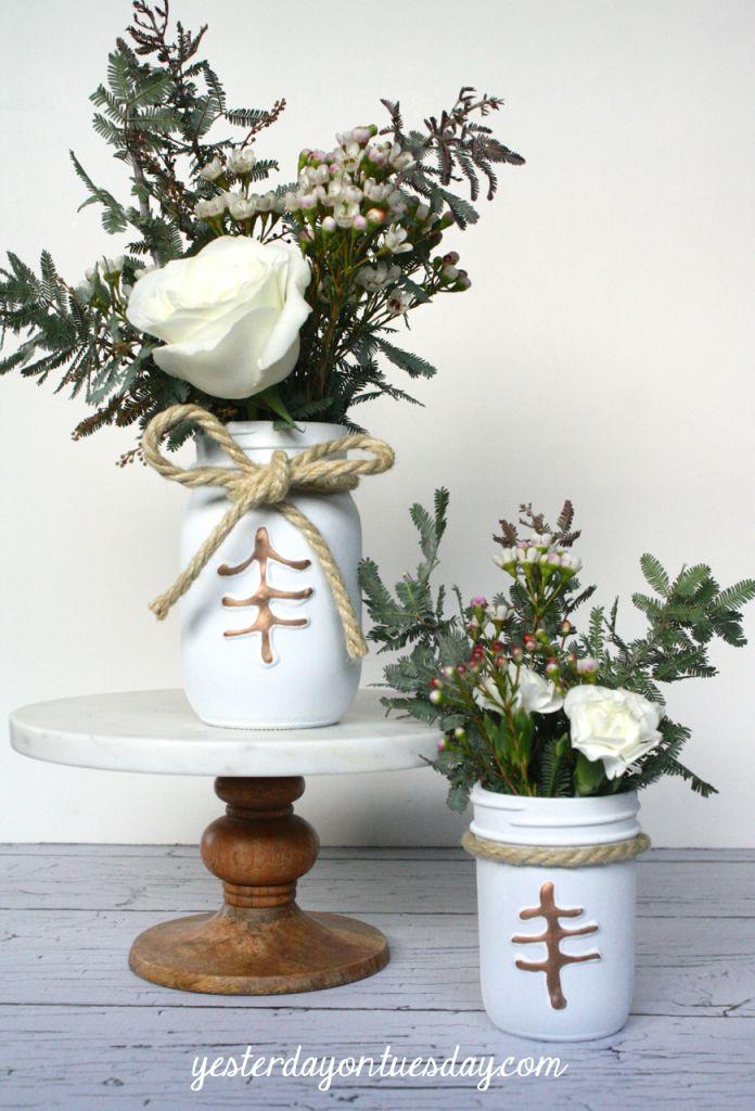 Rustic mason jar centerpieces yesterday on tuesday diy