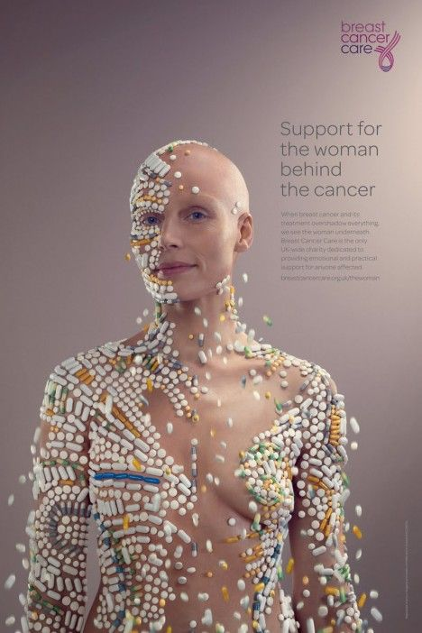 The woman behind the cancer (behind the pills).