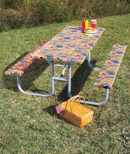 3 Pc. Picnic Table Covers   Another Great Item For The Camp Kit.