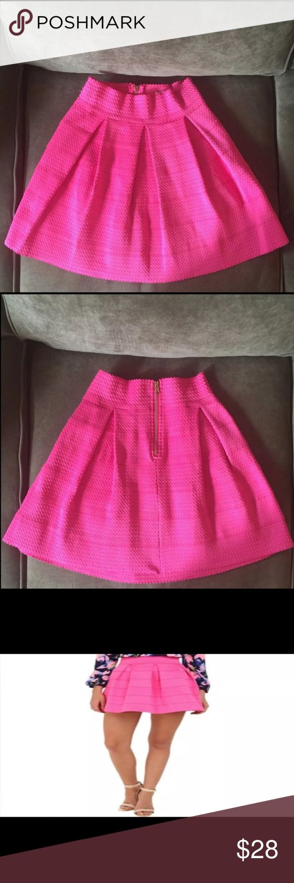 Gabriella Rocha Flared Skirt- Pink Like new! Loved and purchased from 6pm.com, but never ended up wearing it. Now it's a bit tight on me. Very classy and feminine, can easily be dressed up or down. A classic style for spring or summer! Gabriella Rocha Skirts Circle & Skater