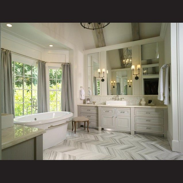 17 best images about master bathroom ideas on pinterest soaking tubs traditional bathroom and Tile in master bedroom closet