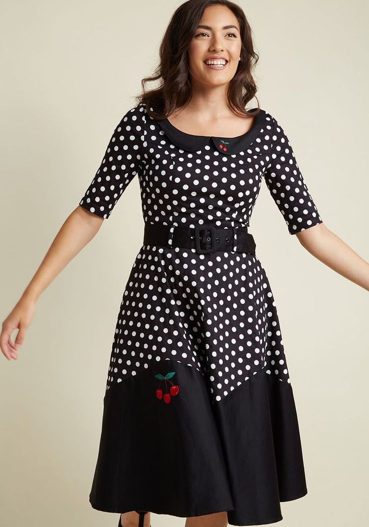 Collectif Pinup Personality Fit and Flare Midi Dress