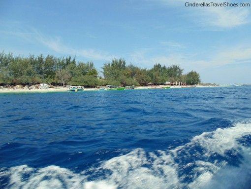 The boat leaving Gili Trawangan