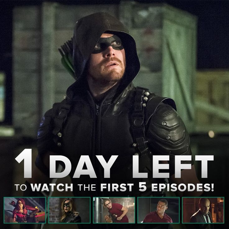 Just ONE DAY left to watch this season of #Arrow from the beginning on the CW App!