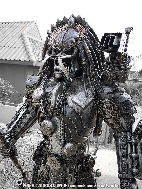 Statua predator Steampunk