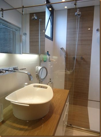banheiro porcelanato madeira - Pesquisa Google