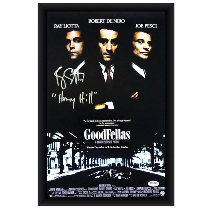 """Ray Liotta Signed Goodfellas Poster """"Goodfellas"""" is one of the greatest mobster movies of all time and one of the roles actor Ray Liotta is most known for. He's autographed this movie poster, making it the perfect addition to any movie buff's entertainment room.   #godfather #BAck2MAYHEM #Lufthansa #Mafia #1stHalf #1stLady #GBallinIsAHobby #BlessedByTheBest #StoneRoses #RobertDeNiro #JoePesci #RayLiotta  #Gifts #Ebay #Scorsese #NewYork #crime #jimmythegent #mob #whitecollar #VincentAsaro"""