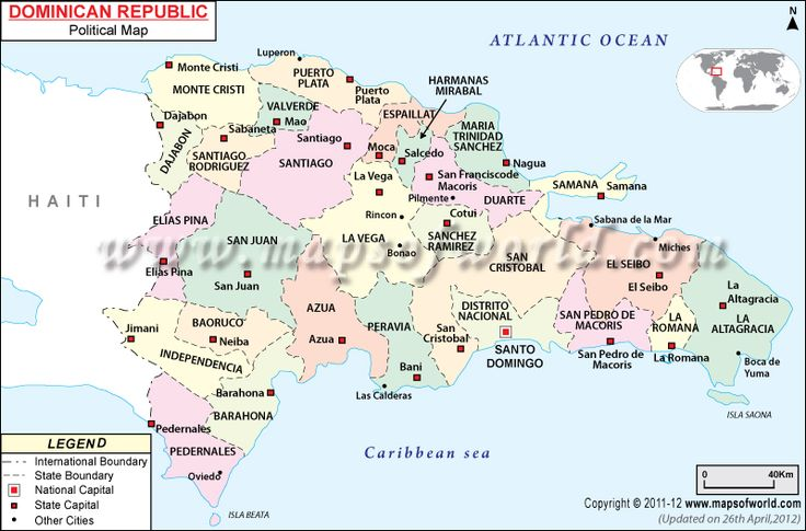 Political Map of Dominican Republic