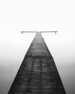 Jonas Anhede - Crossroads, black & white photo art, prints & posters