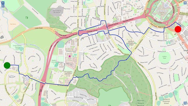 Plan to run the 10K - Edinburgh Marathon Festival? #forunrdotcom can help you! For instance:  the #IA has found a track with a similar elevation profile at Canberra! #edinburghmarathon #canberra #running #10k #training #forunrdotcom #elevationprofile