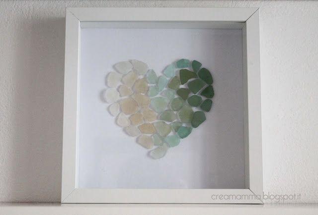 heart shaped sea glass diy