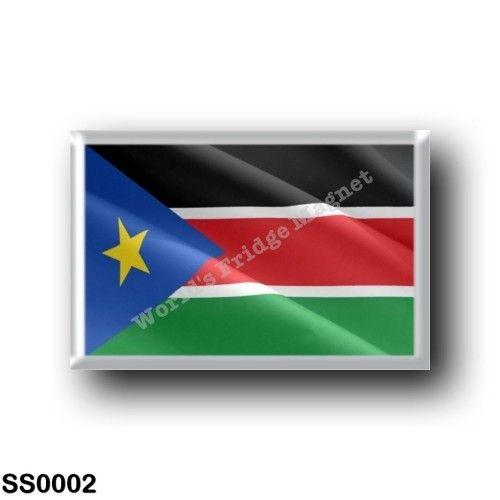 SS0002 Africa - South Sudan - Flag Waving