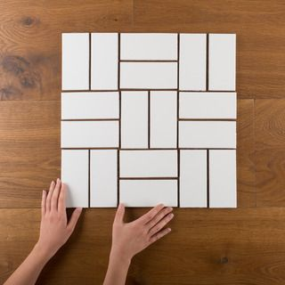 3×6 Subway Tiles in a parquet pattern