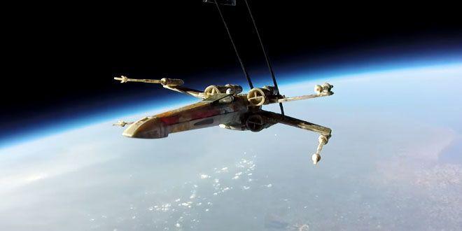 Los X-Wing de Star Wars vuelan por la estratosfera http://j.mp/1IsAF8F |  #Estreno, #Sobresalientes, #StarWars, #TheForceAwakens, #XWing