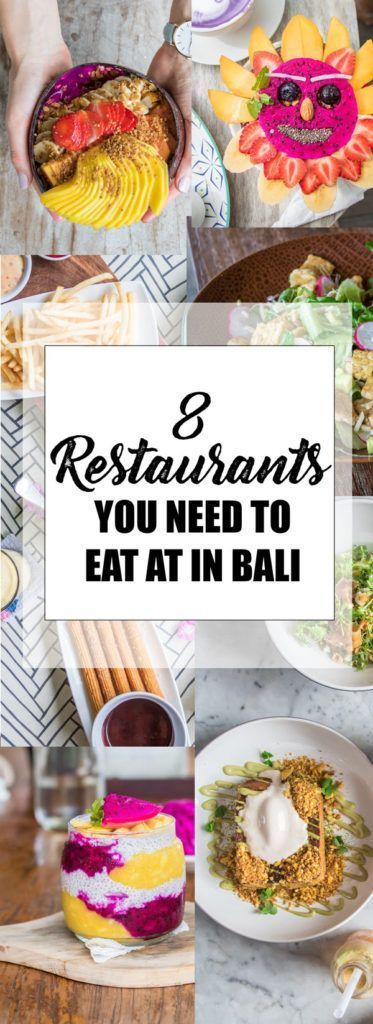 8 restaurants you need to eat at in Bali