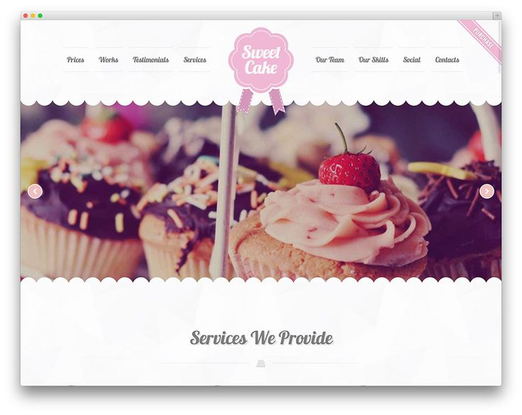 sweet cake bakery WordPress theme