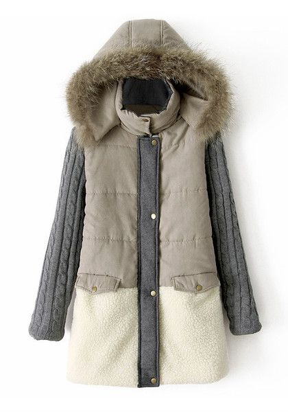 Cozy Grey Parka - Features Hood with faux fur trim