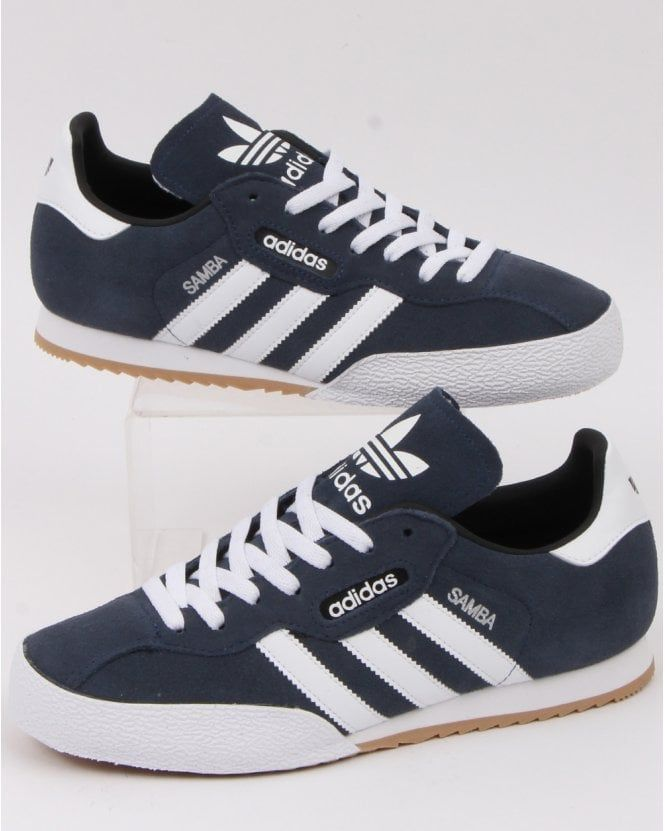 Adidas Samba Super Trainers Navy/white | Trainers fashion, Adidas ...