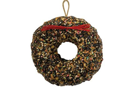 HOLIDAY BIRDSEED WREATH -  Winter is difficult for wild animals, but this wreath, packed with sunflower seeds, peanuts, and millet can help them survive the bitter cold. Bird lovers on your list will delight in being able to share the bounty and beauty of the season with their feathered friends (and the furry ones that'll pick up any fallen scraps!)   at the National Wildlife Federation
