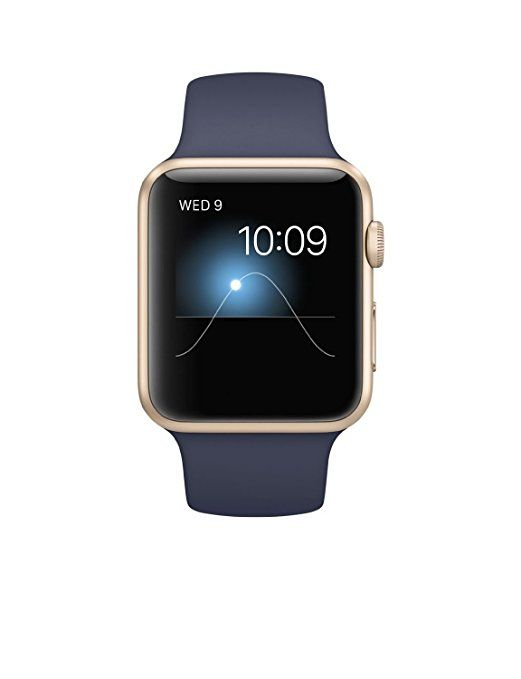 Apple Watch Sport 42mm Gold Aluminum Case with Midnight Blue Sport Band (Certified Refurbished) $259